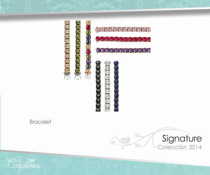 Estos lujosos brazaletes están compuestos de brillantes gemas pulimentadas puestas en un engarce de corona de dos tonos. Disponible en rubí, topacio, zafiro, claro, negro, amatista, olivino, rosado y multi-color. Mide 19 cm. www.lacoqueteria.co #bracelet #brazalete #accesories #beautiful #lacoqueteria #fashion  #shoppingonline #tiendaenlinea #mexico #accesorios #moda #monterrey #merida #vestidos #joyeria #bisuteria #boda #tendencias