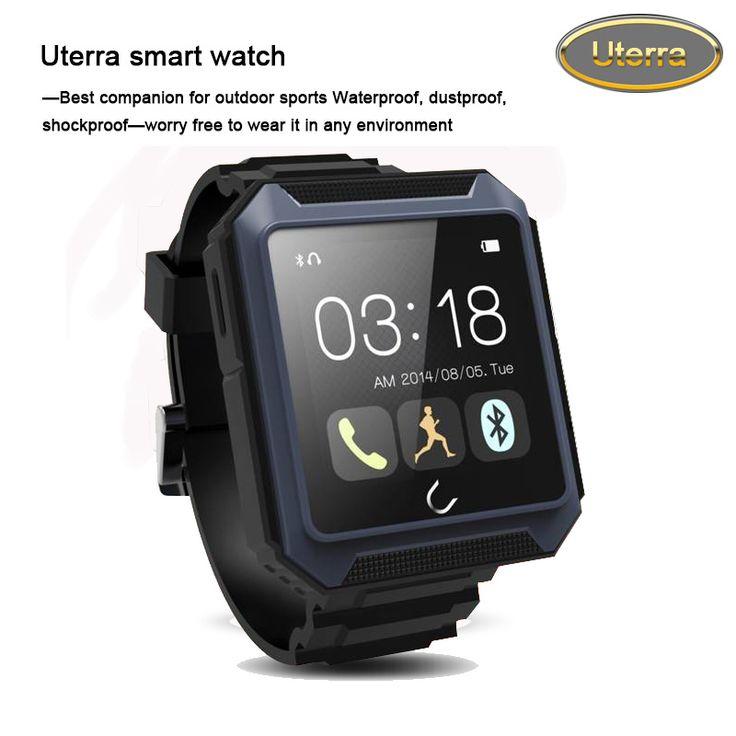 2016 kostenloser versand reloj intelligente wasserdicht stoßfest outdoor-sport bluetooth 4,0 smartwatches tragbares gerät Uterra Blau //Price: $US $69.85 & FREE Shipping //     #smartuhren