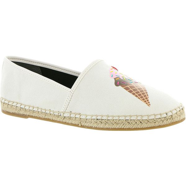 Circus by Sam Edelman Leni 15 Women's White Slip On 8.5 M ($55) ❤ liked on Polyvore featuring shoes, sneakers, white, rubber slip on shoes, rubber footwear, white trainers, rubber sneakers and slip-on sneakers