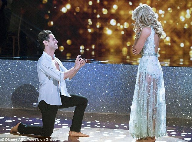 Televised proposal: Sasha Farber proposed to Emma Slater on Tuesday's episode of Dancing With The Stars