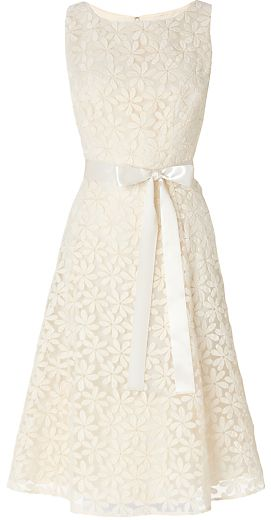 Phase Eight Bridal Daisy Embroidered Prom Style Wedding Dress, Cream - perfect reception dress option