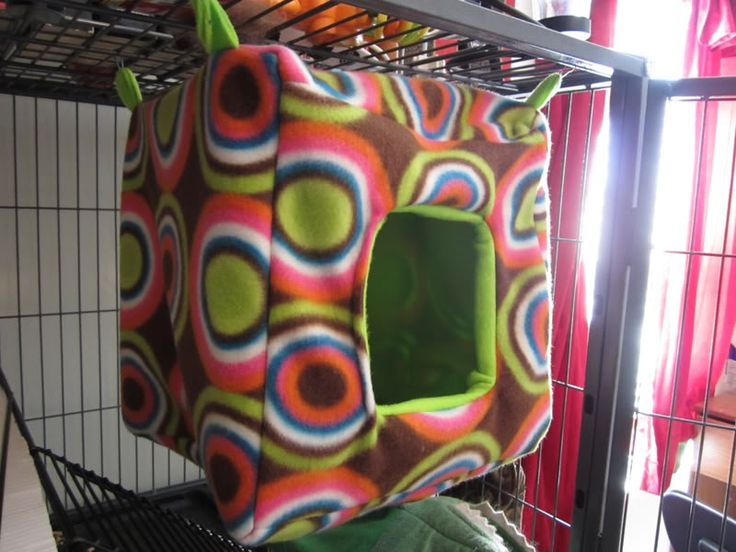 cube sleeping pouch for Sugarglider directions for sewing