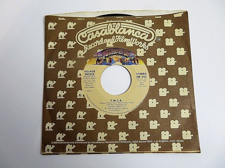 Vinyl 45 Record The Village People Y.M.C.A. & THE WOMEN Vintage 1978 W/ Sleeve #1980s