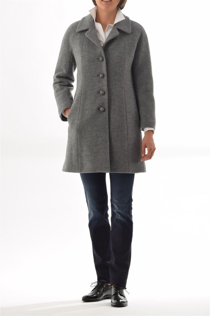 Woman coat Aspesi - woman boiled woll coat padded thermore