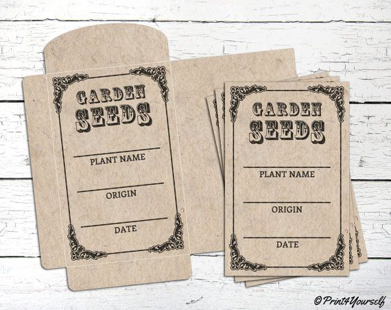 Seed Bag // Instant Download Printable Craft by Print4Yourself