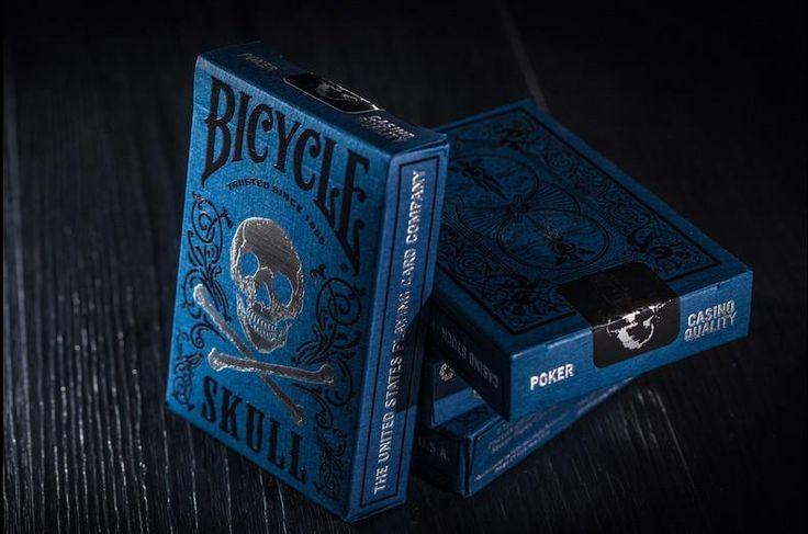 """Black & Blue Velvet"" Luxury Skull Playing Cards  #skullplayingcards"