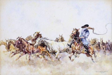 Zórád Ernő magyar festő, grafikus (1911-2004)  Csikós, 1935 (480×323)