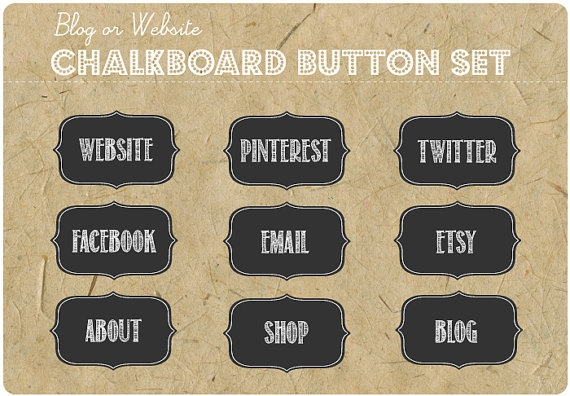 CHALKBOARD LABEL BUTTONS