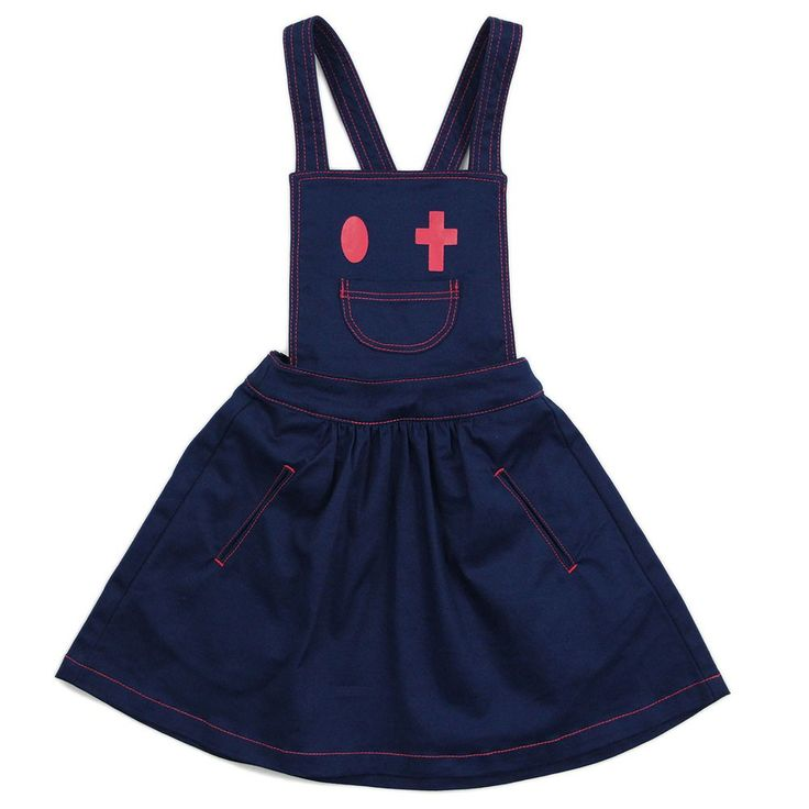 "Kidswear - Girl Navy Blue Pini Dress - ""Rejoice in the Lord"""