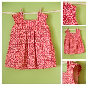 Brynnberlee Brooke Dress -- downloadable pattern available at Pink Chalk Fabrics. Thinking about trying to make this for my little niece. I've never made any clothes before, but this looks fairly simple.