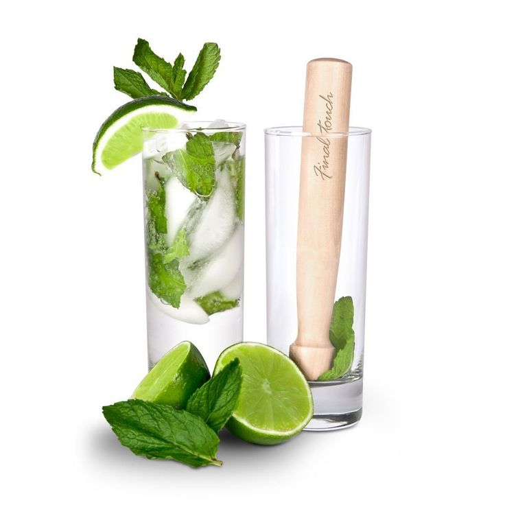 Mojito Glasses and Wooden Muddler Set / Dot and Bo Just in case you were wondering what to get me for Christmas.