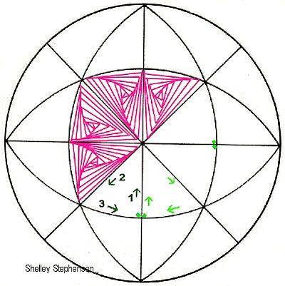 ST05 Temari swirl pattern using a C8 division.