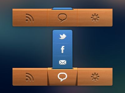Dribbble - Navigation Bar For App by Nick Zhukov - via http://bit.ly/epinner