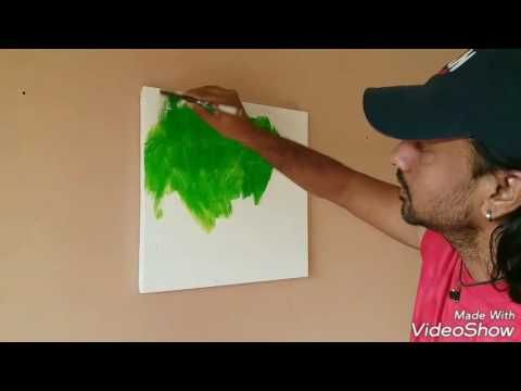 """Acrylic Abstract Painting Demonstration ....2017.....""""Heaven On Earth"""" - YouTube"""
