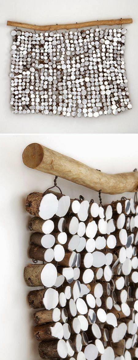 lee borthwick � mirrored found wood, wall hanging