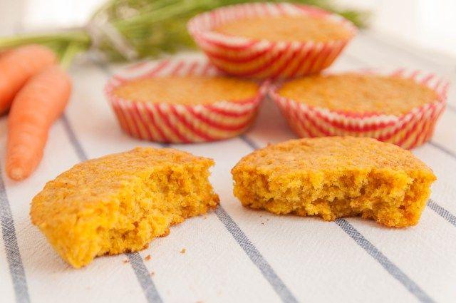 Magdalenas de zanahoria y naranja