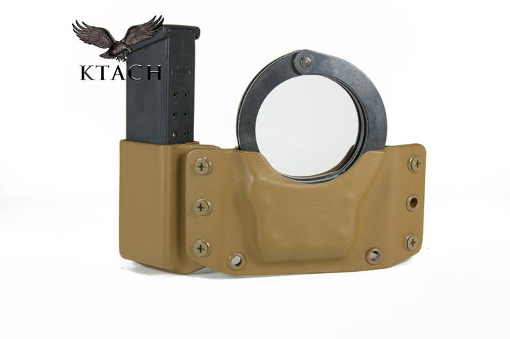 Custom Kydex Pistol Mag Cuff Combo Carrier | KTACH Kydex Solutions