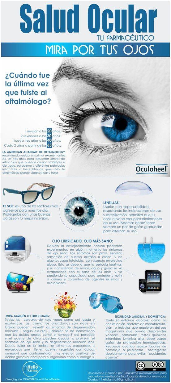 Salud Ocular | #infografía #Salud #health #Visión