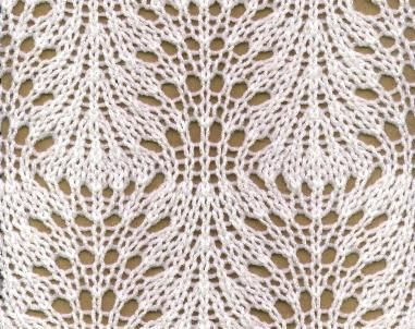 Peacock Tail Design free knitting graph pattern