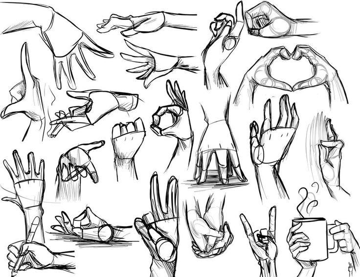 Referencia de dibujo: Manos                                                                                                                                                                                 Más
