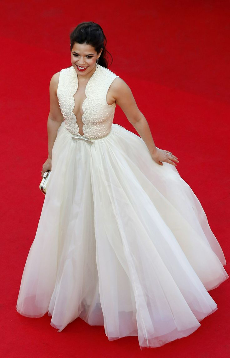 Best of Cannes, 2014 #Red_Carpet ~ America Ferrera in a 'major' Georges Hobeika gown