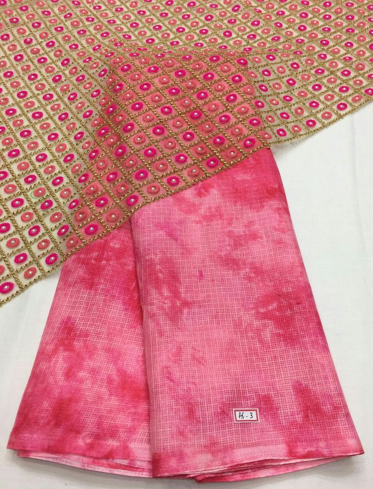 Silky chiffon Sarees with braso design on the Saree n patch border Blouse net fabric designed