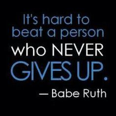 Giving up?