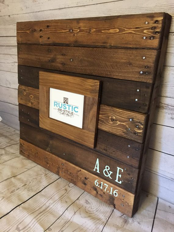 24 x 24 recycled pallet sign guestbook-Unique by RusticRestyle