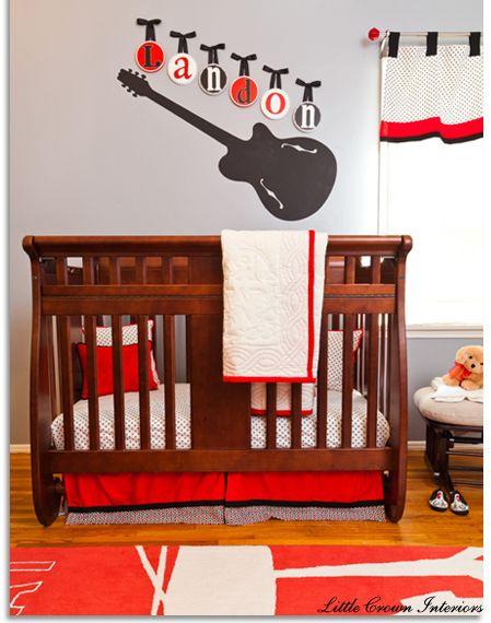 Guitar themed nursery...too cute!