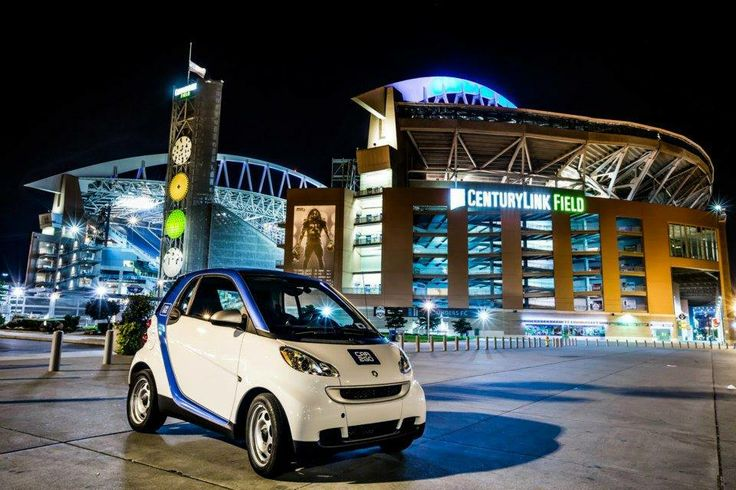 Centurylink Field and car2go. Small enough to park easily even on busy game days!