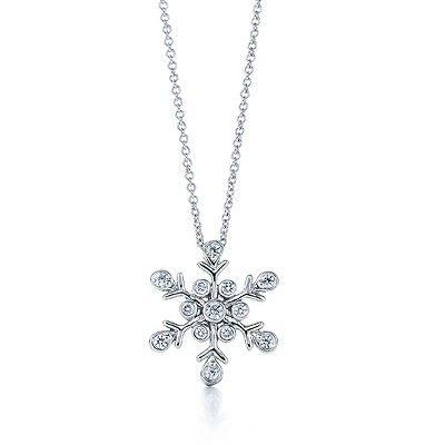 Tiffany & Co Snowflake Diamond Pendant