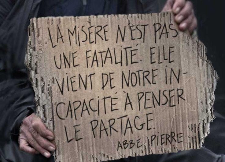 """Résultat de recherche d'images pour """"prendre les enfants aux familles pauvres france abbé pierre"""""""