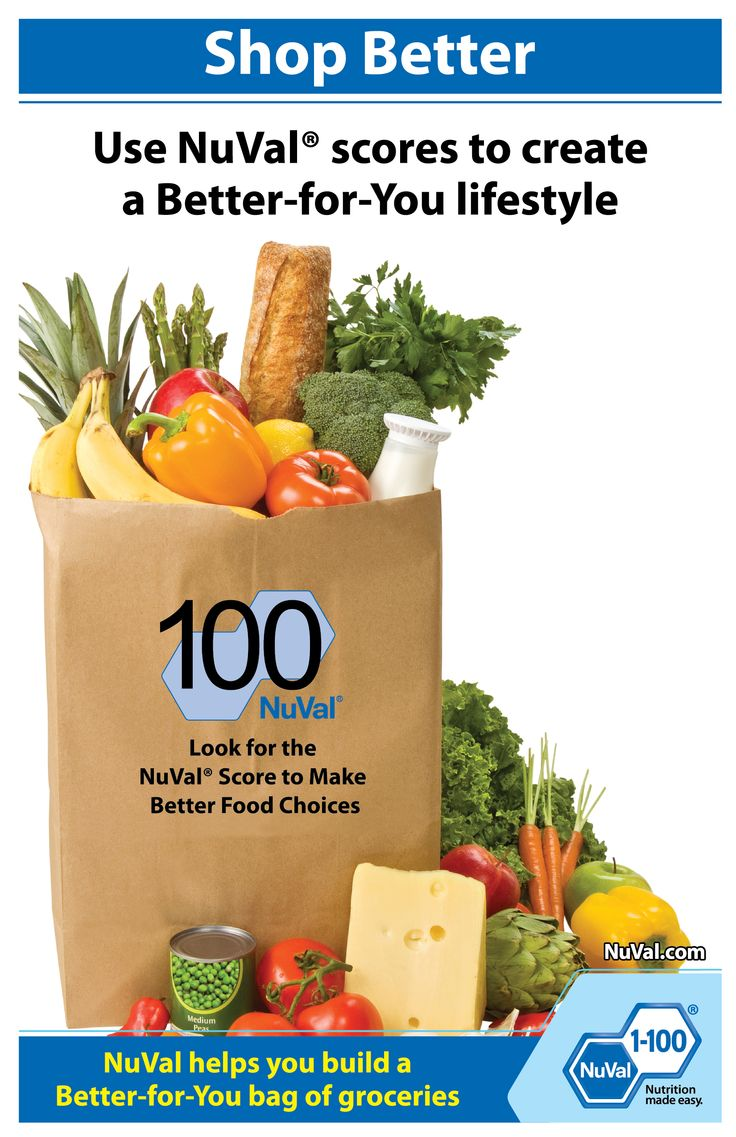 Let us help you build a Better-for-You bag of groceries. www.nuval.com
