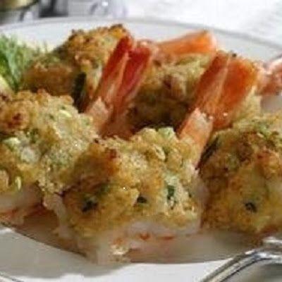Emeril's Stuffed Shrimp with Crabmeat @keyingredient #vegetables #shrimp