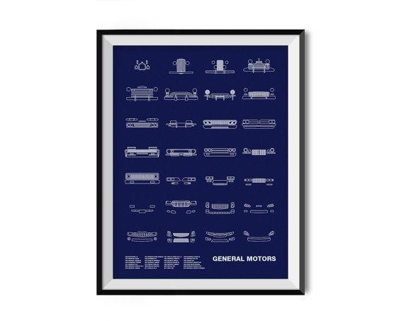 Auto Icon Screen Print Series: General Motors by nomodesignshop