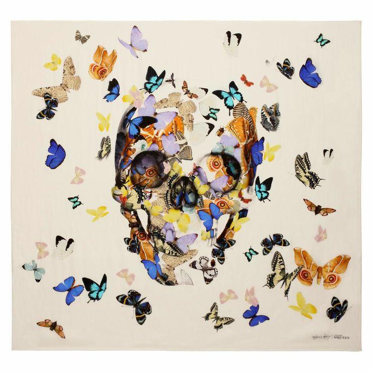 Alexander McQueen Collaborates With Damien Hirst. #damienhirst http://www.widewalls.ch/artist/damien-hirst/