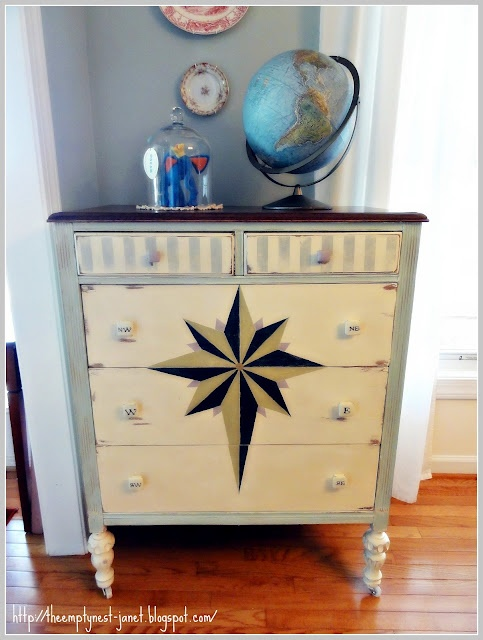 nautical chest  The Empty Nest: ~When Little Gypsies Take To The Sea~: Sloan Chalk, Chalk Pint, Chalk Paint, Painted Furniture, Carefully Scrap, Annie Sloan, Dressers, Gypsy, Person Dull