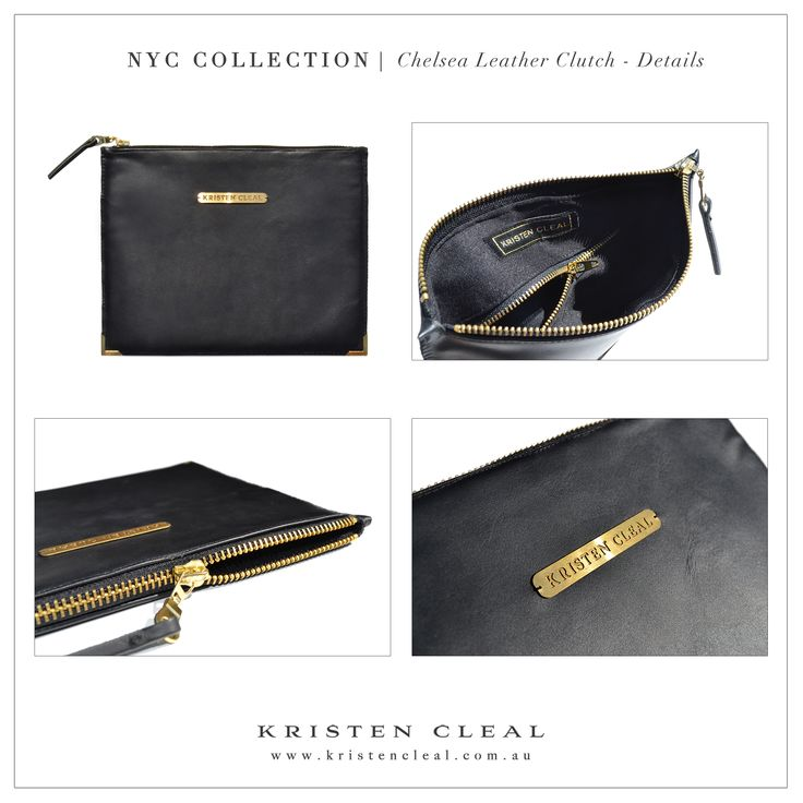 Chelsea Leather Clutch Details by Kristen Cleal Designs  Shop our online store at www.kristencleal.com.au