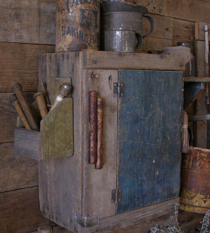 old wall box | Primitive Wall Boxes