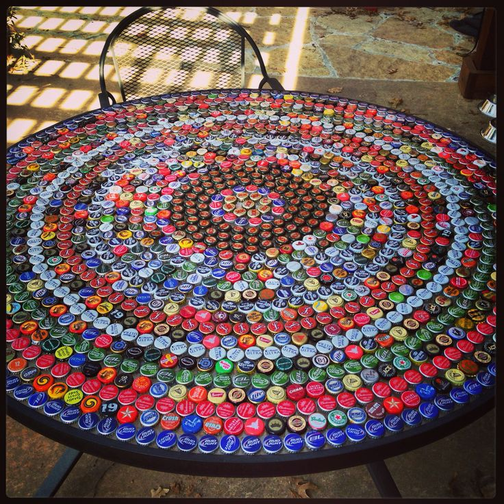 Bottle Cap Table!                                                                                                                                                                                 More