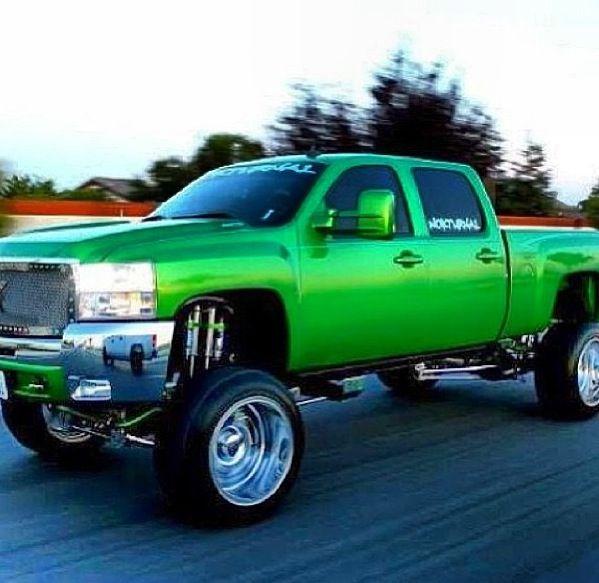 Lime Green Beautiful Chevy Truck Trucks Cars Bikes