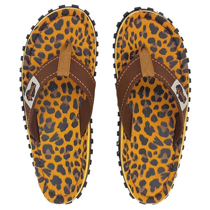 Gumbies Zehentrenner, Unisex, Farbe: Leopard, Größe: 39