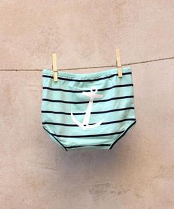EM Children's Underwear Anchor Mintgreen/Navy - emma och malena