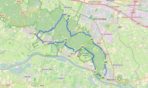 U start deze route naast kasteel Amerongen en fietst via de polder richting de Amerongse Berg. Deze heuvel is met 69.2 meter boven het NAP het hoogste punt van de provincie Utrecht.