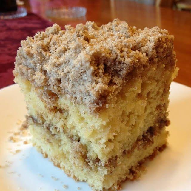 Extra Crumb Cinnamon Struesel Sour Cream Coffee Cake Recipe Yummly Recipe Coffee Cake Recipes Desserts Sweet Recipes