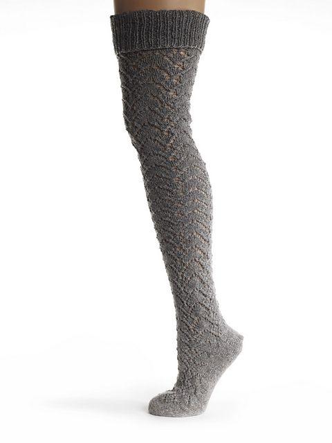 Ravelry: Toft Knee High Lace Socks pattern by The Toft Alpaca Shop