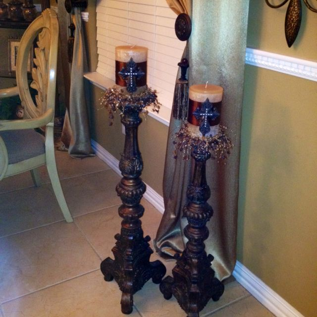 My favorite candle holders! I love them.