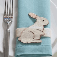 Bunny Napkin Rings - Set of 6 by tag®  $15.67