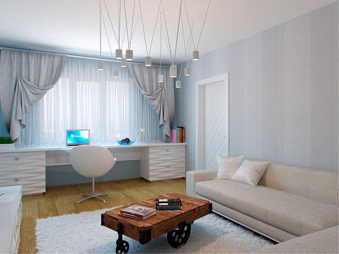Гостиная. Интерьер трехкомнатной квартиры в г. Гатчина