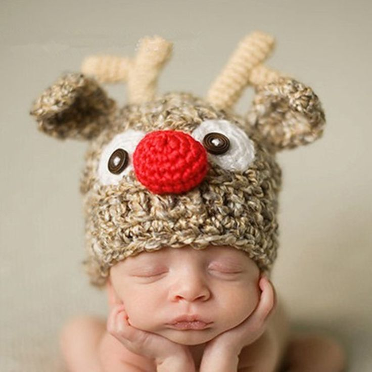 >> Click to Buy << 0-12 Months Newborn Baby Christmas Photography Crochet Baby Boys Girls Beanies Hat Cap Witner Cotton Toca Infantil Photo Props #Affiliate